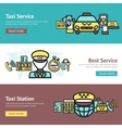 Taxi Banner Set vector image vector image