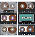 The complete set of the different Audio Cassettes vector image vector image