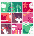 the symbols of new year and christmas vector image vector image