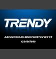 trendy alphabet white letters vector image vector image