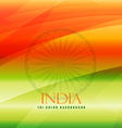 tricolor background of india vector image