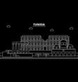 tunisia silhouette skyline city tunisian vector image vector image