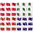 Turkey Algeria Transnistria Turks and Caicos Set vector image vector image