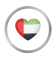 United Arab Emirates heart icon in cartoon style vector image vector image