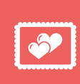 valentines day greeting card love concept in flat vector image vector image