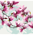 Vintage Spring Watercolor Background vector image vector image