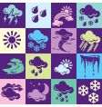 weather background vector image vector image