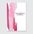 wedding grunge pink decoration vcetor fluid art vector image vector image