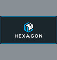 wg hexagon logo design inspiration vector image vector image