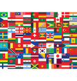 world flags background vector image vector image