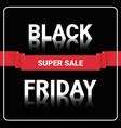 black friday super sale flyer shopping message vector image