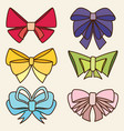 set of various abstract bows and ribbons vector image