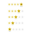 five stars customer product rating review flat vector image