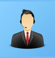 support assistant detailed icon vector image