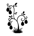 abstract black silhouette of the easter tree vector image vector image