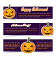 abstract halloween greeting horizontal banners vector image vector image