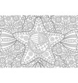 abstract pattern for coloring book with star vector image vector image
