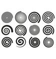abstract spirals vortex swirl motion elements vector image vector image