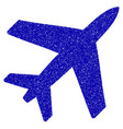 airplane icon grunge watermark vector image vector image