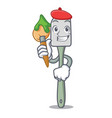 artist silicone spatula for cooking character vector image