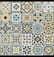 azulejo tile spanish and portugal national vector image