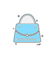 bag icon design vector image vector image
