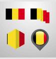 belgium flag design set vector image