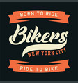 bikers new york city vector image vector image