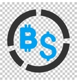 Bitcoin Financial Diagram Icon vector image