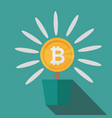 bitcoins flower concept of virtual money for vector image