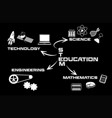 black and white stem education vector image vector image