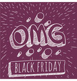 Black Friday retro style mock up vector image vector image