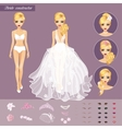Blonde Bride Character Constructor vector image vector image