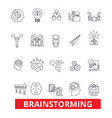 brainstorm create idea thinking creation vector image