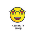celebrity emoji line icon sign vector image