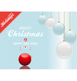 christmas bauble blue and white background vector image vector image