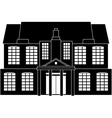 Classical house vector image