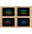 colorful blurred set vector image vector image