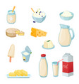dairy products set vector image vector image