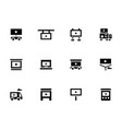 display advertising glyph style icons set vector image vector image