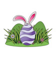 easter egg with bunny ears vector image