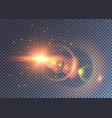 fantasy star explosion with colorful light effects vector image vector image