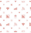 fi icons pattern seamless white background vector image vector image