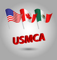 flag american canadian and mexican usmca vector image vector image