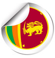 flag icon design for sri lanka vector image vector image