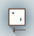 flat table zen garden icon vector image vector image