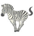 fun cute cartoon zebra vector image vector image
