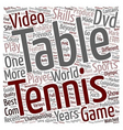 Go Get That Table Tennis DVD text background vector image vector image