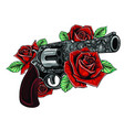 guns on flower vector image