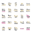 Hand drawn lettering collection vector image